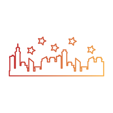 Progettazione dell'illustrazione di vettore dell'icona della siluetta di paesaggio urbano delle costruzioni Archivio Fotografico - 92279152