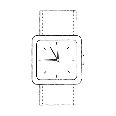 wristwatch accessory time fashion icon vector illustration Banco de Imagens - 92279174