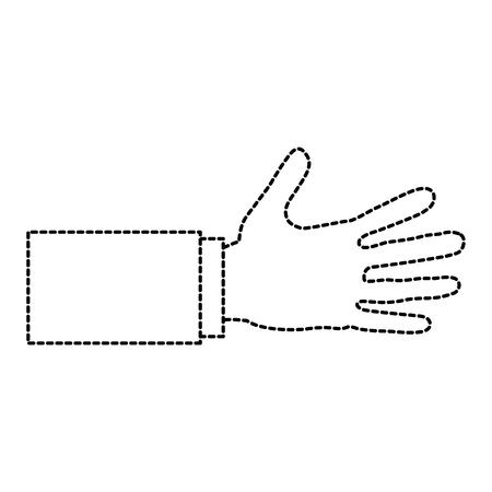 mão humana agitar ícone isolado ilustração vetorial design