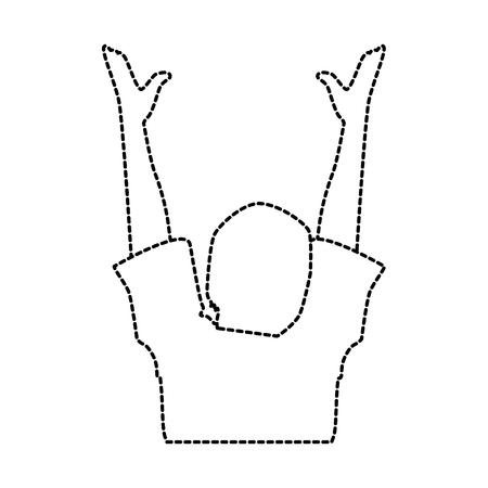 Silhueta humana com as mãos para cima design de ilustração vetorial Foto de archivo - 92338786