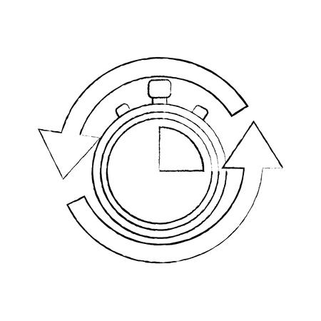 高速配信サービングタイマーアイコンベクトルイラスト