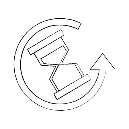 Em torno do relógio entrega de negócios a qualquer momento icon ilustração vetorial Foto de archivo - 92283804