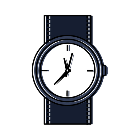 round wristwatch accessory time fashion icon vector illustration 向量圖像