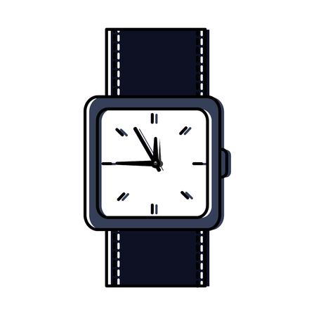 wristwatch accessory time fashion icon vector illustration Banco de Imagens - 92281865