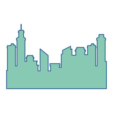 Progettazione dell'illustrazione di vettore dell'icona della siluetta di paesaggio urbano delle costruzioni Archivio Fotografico - 92281869