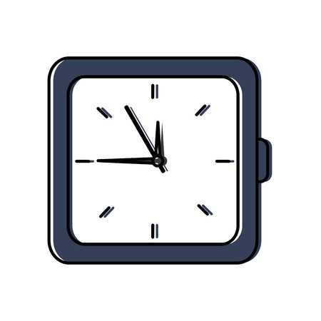clock time hour accessory object icon vector illustration Illustration