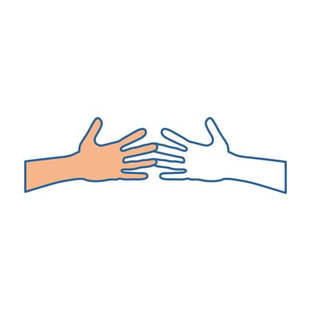 manos humano sacudida aislado icono vector ilustración diseño