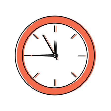clock time hour accessory object icon vector illustration Ilustração