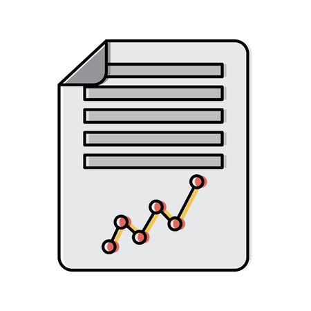 document paper business graph diagram vector illustration