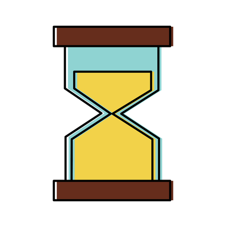 Hourglass clock business time vector illustration