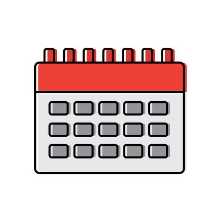 Calendar business plan reminder icon vector illustration Illustration
