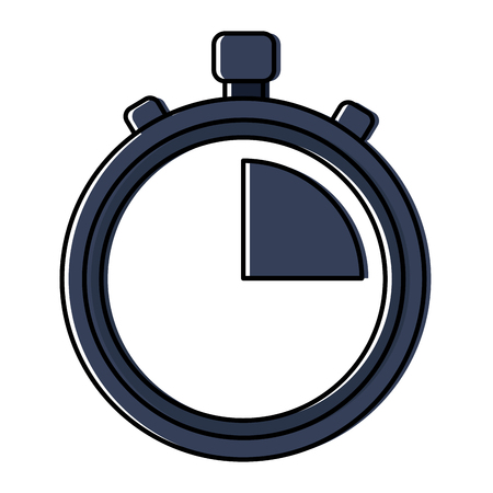 Clock time stopwatch business icon vector illustration Ilustrace