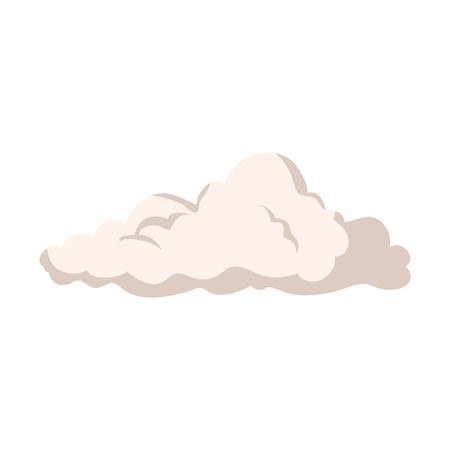 自然雲分離アイコンベクトルイラストデザイン