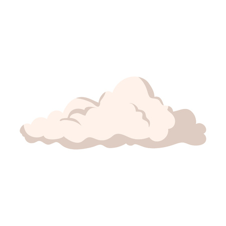 A natural cloud isolated icon vector illustration design