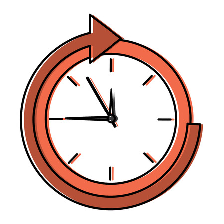 business clock time delivery service vector illustration