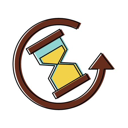 de klok rond levering bedrijf altijd pictogram vector illustratie