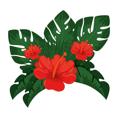 exotic and tropical flower vector illustration design Illustration