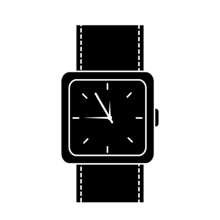 Wristwatch accessory time fashion icon vector illustration. Çizim