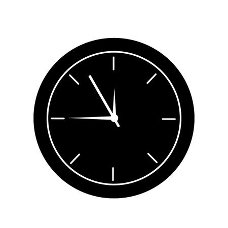 Clock time hour accessory object icon vector illustration. Ilustração