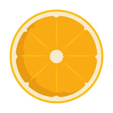 Orange citrus fruit slice illustration design. Illustration