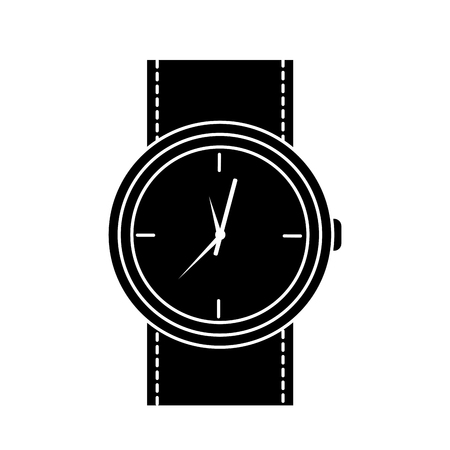Round wristwatch accessory time fashion icon vector illustration. Banco de Imagens - 92287118