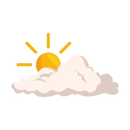 Natural cloud with sun illustration design. Banco de Imagens - 92297183