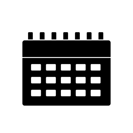 calendar business plan reminder icon vector illustration