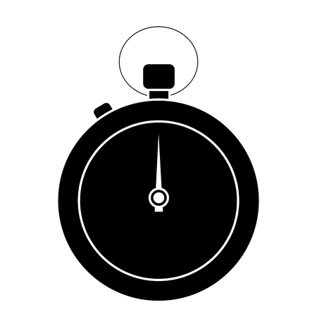 clock time stopwatch business icon vector illustration