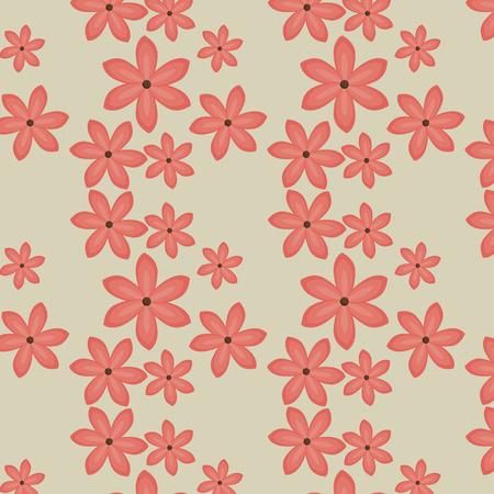 エキゾチックで花柄のイラストデザイン。  イラスト・ベクター素材