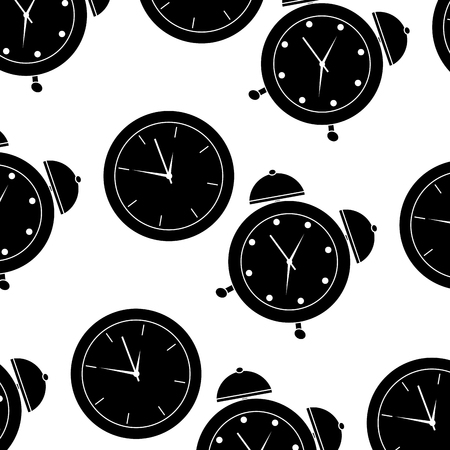 Business clock time alarm management seamless pattern vector illustration.