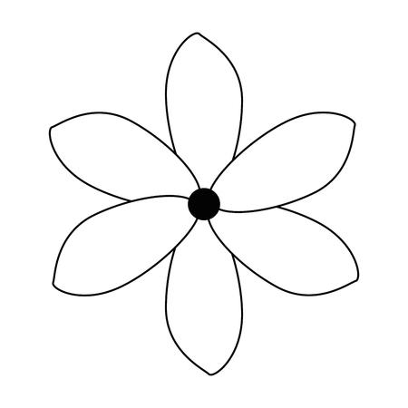 이국적인 열 대 꽃 벡터 일러스트 레이 션 디자인.