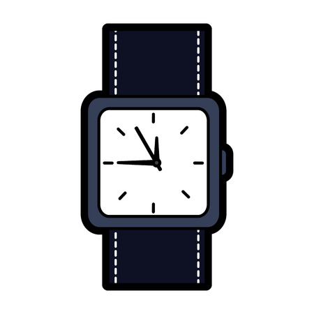 Wristwatch accessory time fashion icon vector illustration Banco de Imagens - 92280352