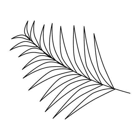 De illustratieontwerp van het palmbladpictogram.