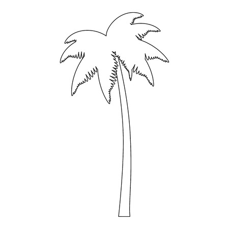 tropical palm tree icon vector illustration design