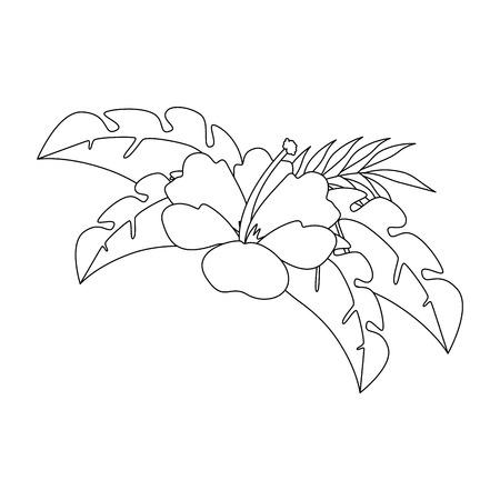 이국적인 열 대 꽃 벡터 일러스트 디자인 스톡 콘텐츠 - 92282186