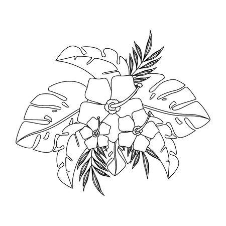 exotic and tropical flower vector illustration design Ilustrace