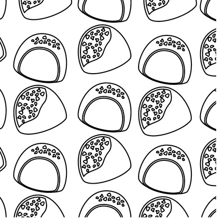 chocolade snoep chips dessert naadloze patroon vectorillustratie Stock Illustratie