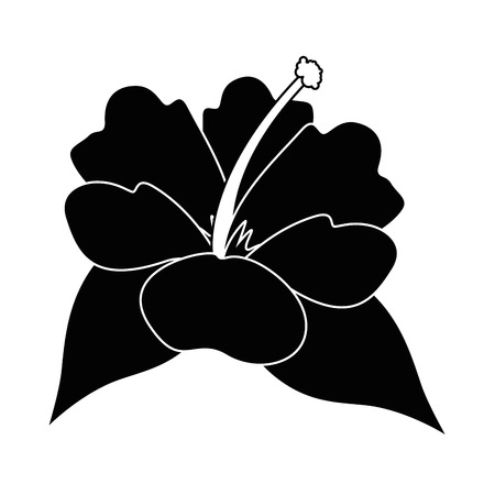 エキゾチックな花のイラストデザイン。  イラスト・ベクター素材