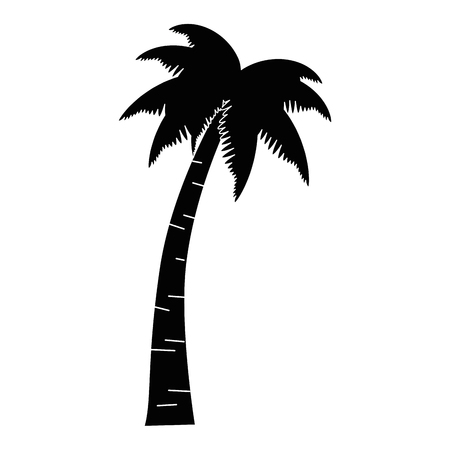 Palm tree icon illustration design.