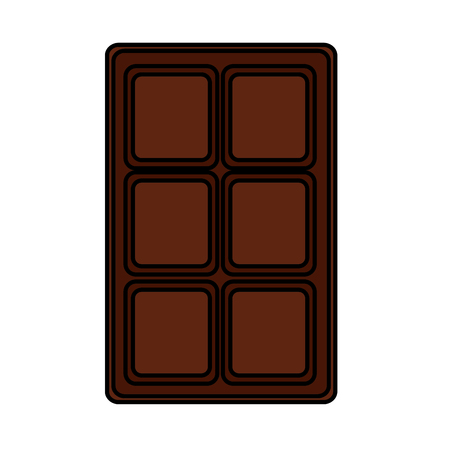 chocolate bar sweet block icon vector illustration Ilustracja