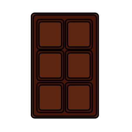 chocolate bar sweet block icon vector illustration Illustration