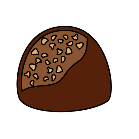 chocolate candy chips sweet delicious vector illustration