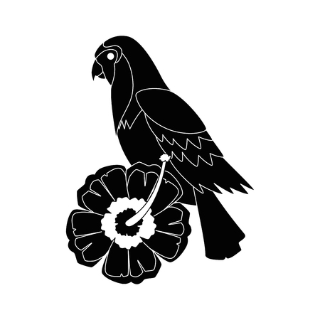 cockatoo exotic bird with flower vector illustration design Stok Fotoğraf - 92281258