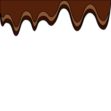 melted chocolate sugar cocoa image vector illustration Ilustracja