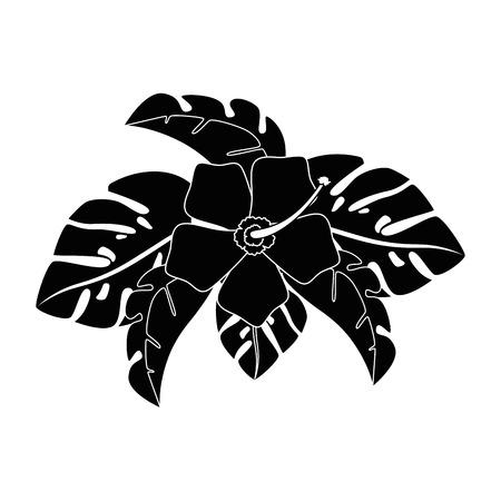 エキゾチックで熱帯の花ベクトルイラストデザイン 写真素材 - 92282766