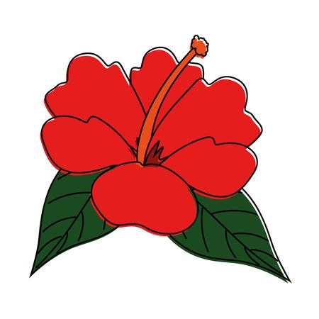 이국적인 열 대 꽃 벡터 일러스트 디자인 스톡 콘텐츠 - 92282773