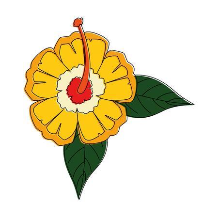 이국적인 열 대 꽃 벡터 일러스트 디자인 스톡 콘텐츠 - 92282840