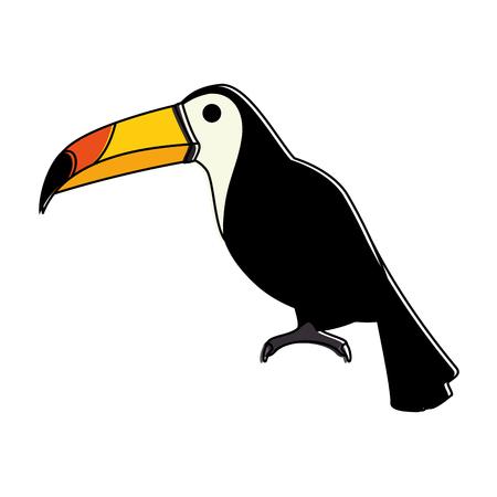 ontwerp van de het pictogram vectorillustratie van de toekan het exotische vogel