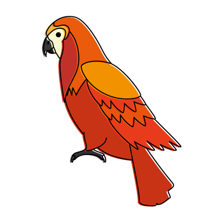 cockatoo exotic bird icon vector illustration design