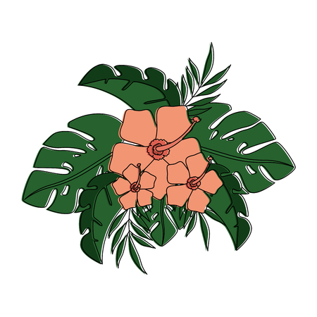 exotic and tropical flower vector illustration design Illustration